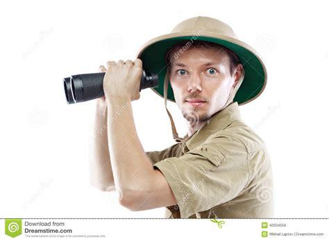 1431702064 on safari a young explorer s explorer holding binoculars stock photo image 40034559