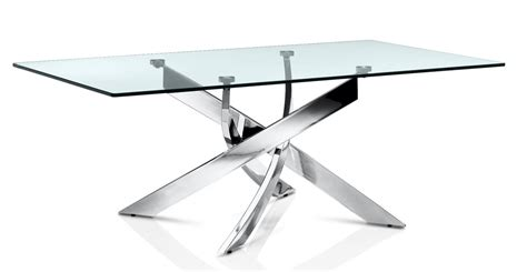 Elite Dining Room Furniture by Buy Fabio Modern Transparent Coffee Tables With Chromed