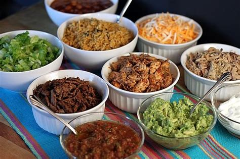 Toppings For Taco Bar by A Tortilla Bowl Taco Bar