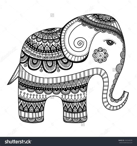 indian elephant doodle 17 best ideas about tribal elephant drawing on