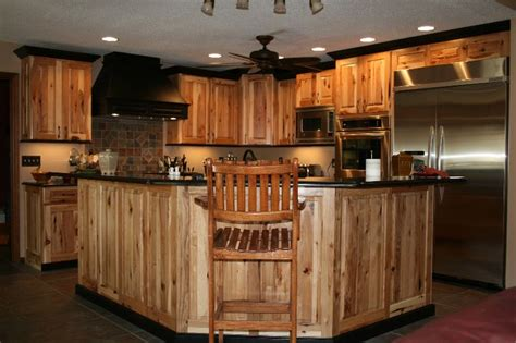 rustic hickory kitchen cabinets 1000 images about kitchen decorating ideas on pinterest
