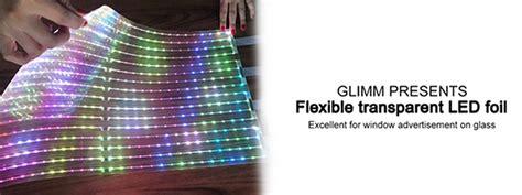 Adhesive Clear Led Screens - transparent led foil glimm display