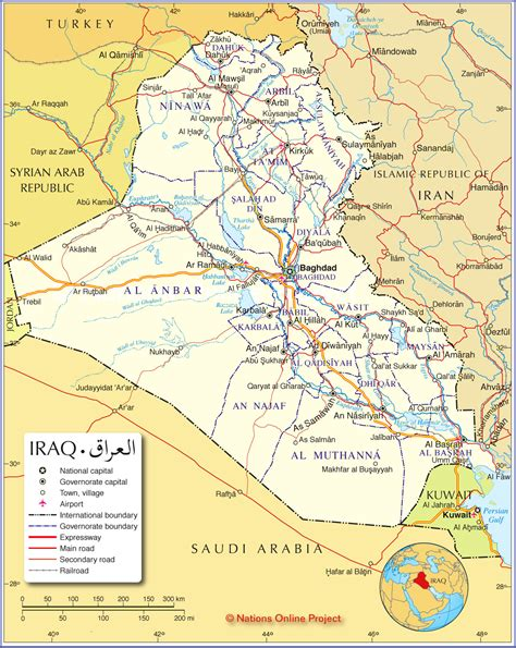 map for iraq maps satellite map iraq