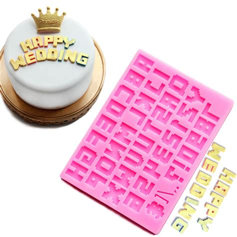 kitchen accessories cupcake design 26 english letters number silicone mold alphabet fondant