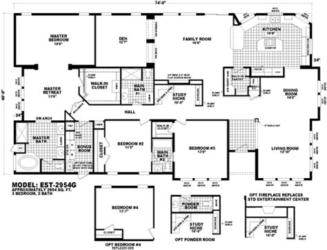 cavco floor plans floor plan est 2954g estate series homes by cavco west cavco manufactured home floor