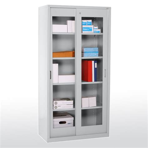 Sliding Door Storage Cabinet by Sliding Door Clearview Storage Cabinet Lozier Store