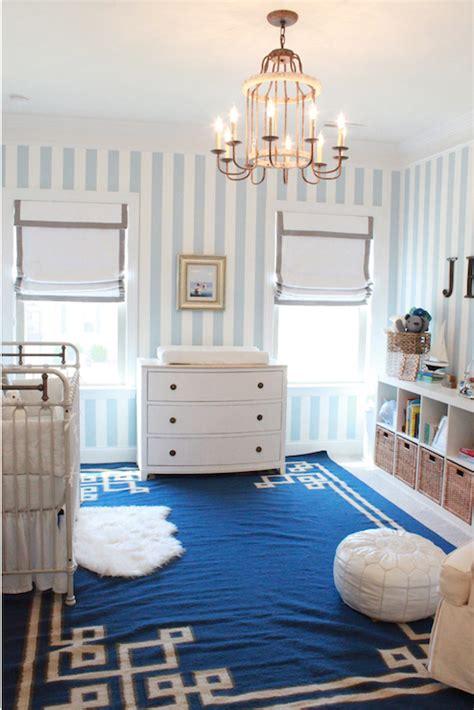 blue greek key rug transitional nursery lindsey