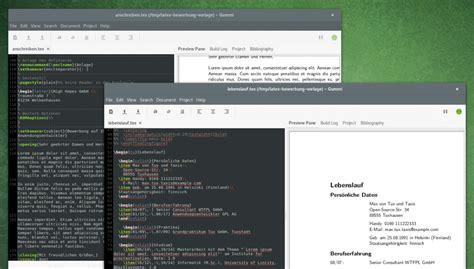 tutorial latex ubuntu bewerbung mit hilfe von latex vorlagen unter ubuntu oder