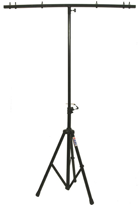 stand up light fixtures pro audio dj adjustable tripod stand with top t bar for