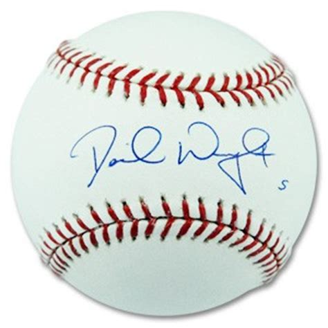 david wright signature david wright autographed baseball