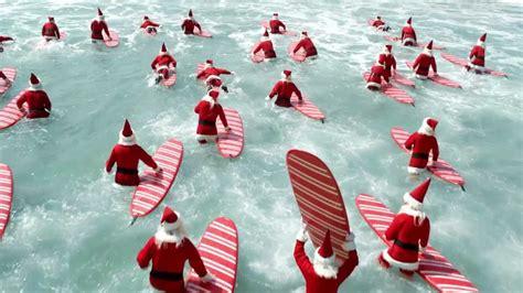 xmas tales australian funny aldi surfin santas