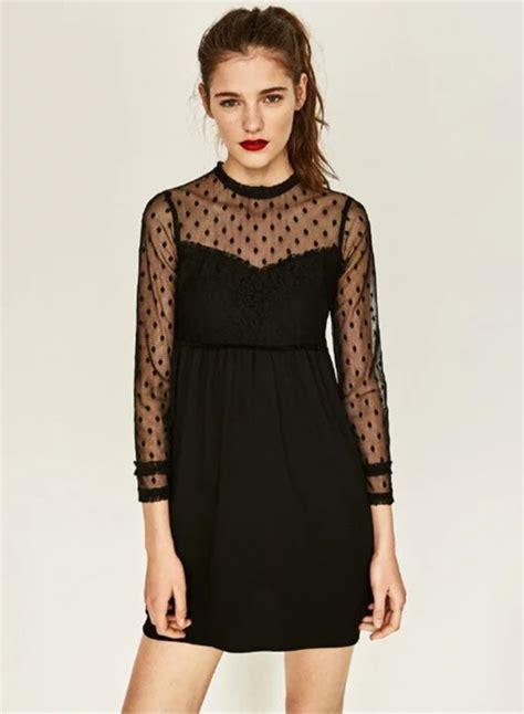 Polkadot Mesh Dress Et Cetera black mesh polka dot dress oasap