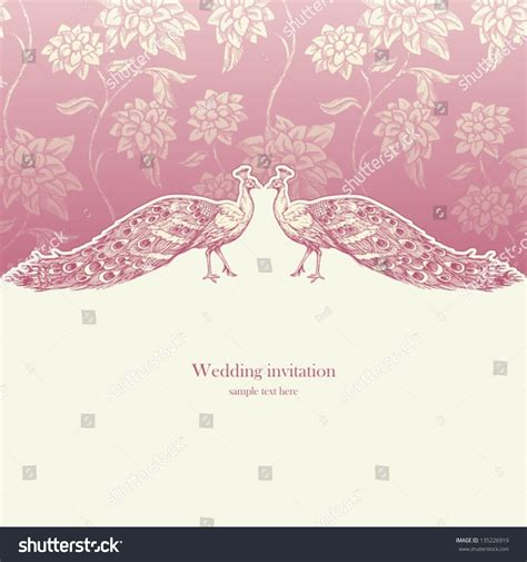 vintage wedding card background images vintage wedding invitation card antique background stock vector 135226919