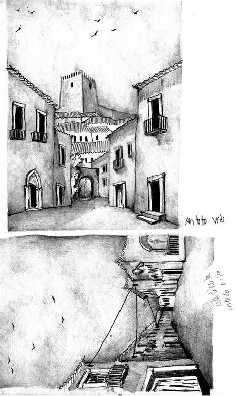 Desenho e Aguarela: Castelo de Vide.