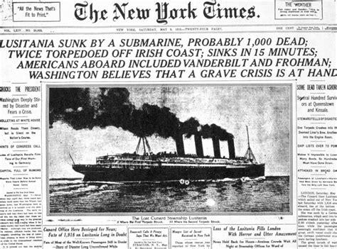u boat crisis ww1 der untergang der quot lusitania quot bild 10 spiegel online
