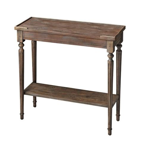 brown console table brown carved wood rectangle console table