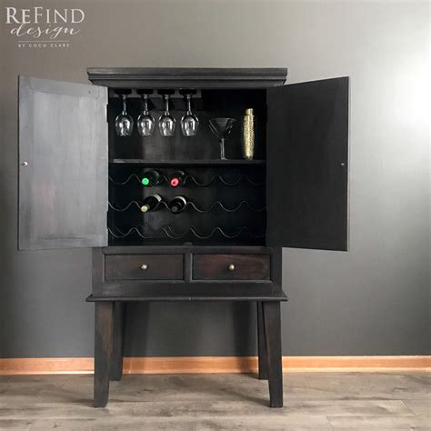 Black Bar Cabinet L Black Bar Cabinet General Finishes Design Center