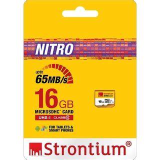 Termurah Microsd Strontium Nitro 16gb Speed 433x 65mb S strontium nitro 16gb memory card microsdhc uhs 1 class 10 433x 65mb s