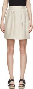 carven beige linen pleated skirt where to buy how to wear