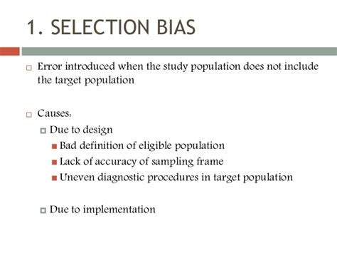 design bias meaning bias in health research