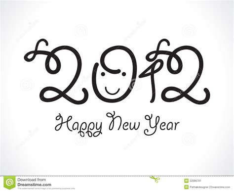 new year is based on abstract kid based new year text stock image image 22286791