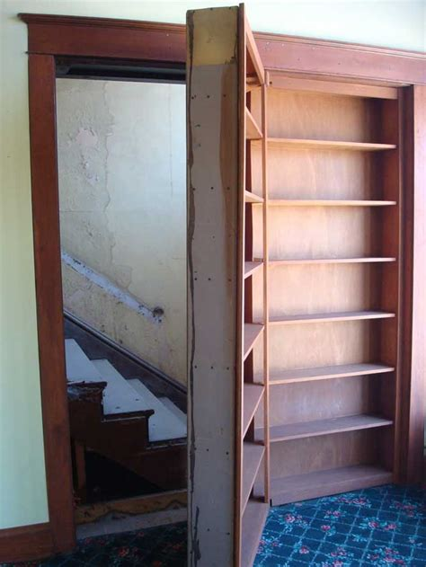 secret staircase bookcase door stashvault