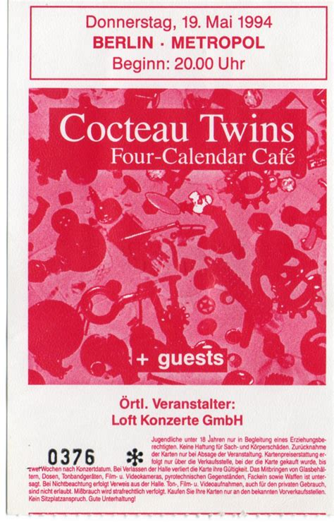 cocteau twins poster cocteau twins ticket collector