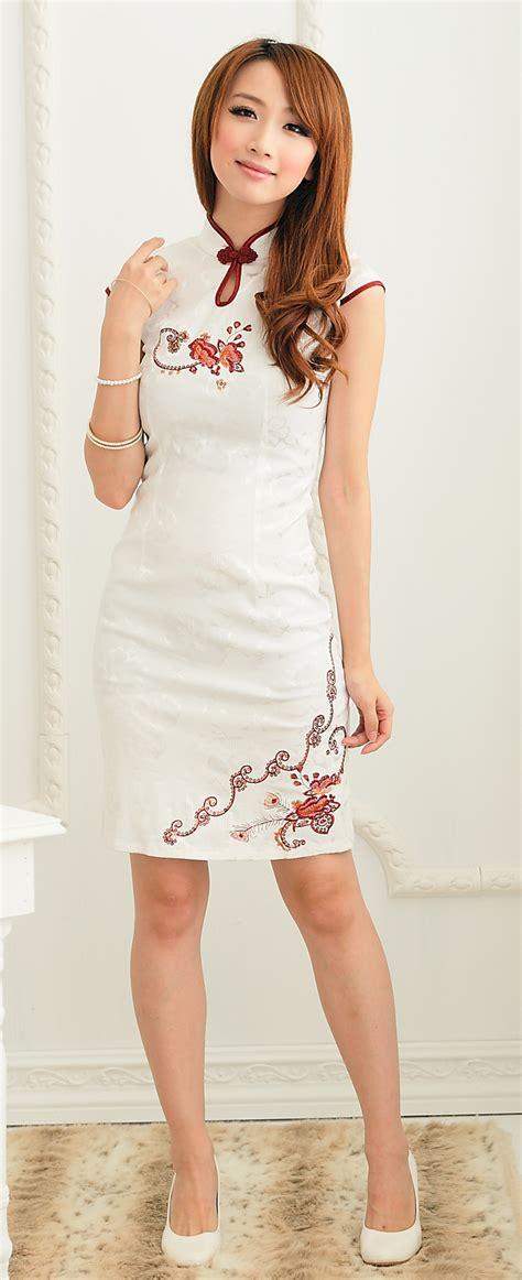 Baju Cheongsam Murah Katun baju cheongsam wanita putih model terbaru jual murah