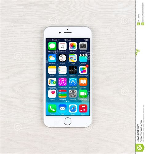 iphone table layout new ios 8 1 homescreen on an iphone 6 display editorial