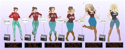 tf bimbo transformation comics cmsn disco girl to rock bimbo tf by banedearg on deviantart