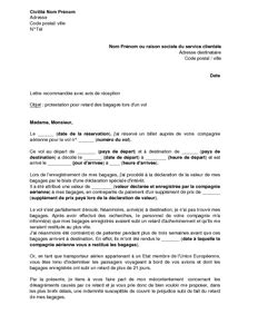 Lettre De Demande De Visa En Espagnol Lettre D Indemnisation Pour Retard De Vol Pr 233 Parer Voyage