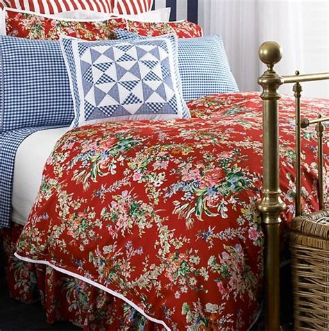 red floral comforter ralph lauren bedding belle harbor red floral twin duvet