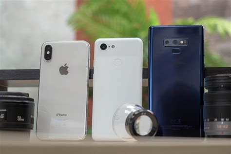pixel 3 vs iphone xs vs galaxy note 9 blind comparison results phonearena