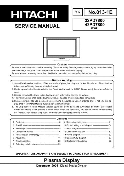 Hitachi Cs1406 Tv D Service Manual Free Download