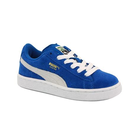 blue and sneakers suede 355116 02 laced suede trainers blue white