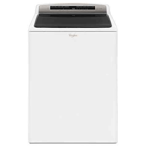 washer with built in whirlpool 4 8 cu ft high efficiency top load washer with
