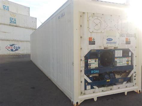 consommation chambre froide conteneur container contenair maritime et stockage 40