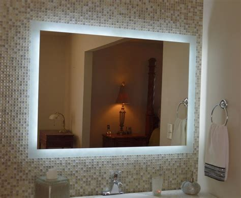 lighted vanity mirror   wall mounted led bath mirror mam  ebay