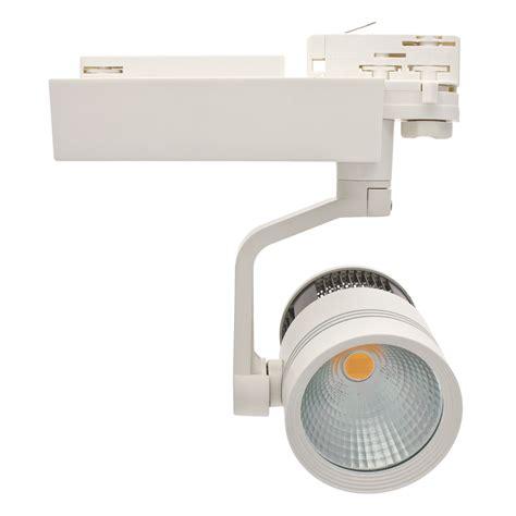 illuminazione a binario led illuminazione professionale faro per binario led bianco