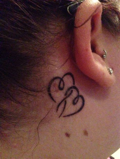 heartbeat tattoo behind ear collection of 25 back ear heart tattoo designs for women