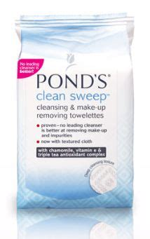 Drugstore Ponds Clean Sweep Cleansing Towelettes by Ponds Clean Sweep Cleansing And Makeup Remover Towelettes