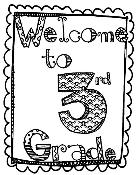 Front Page Image 3rd Grade Coloring Page Wecoloringpage Coloring Pages Grade 3