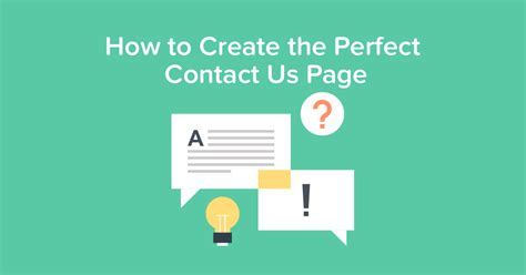 how to create the contact us page for support