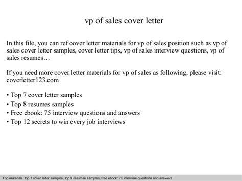 Offer Letter Vp Of Sales vp of sales cover letter