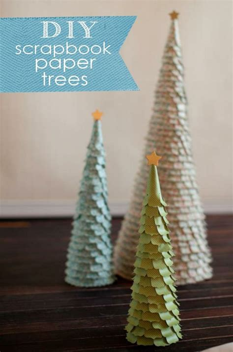 scrapbook paper trees christmas and winter pinterest