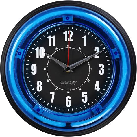 unique wall clocks decorative modern wall clocks 11 quot blue light neon clock ebay