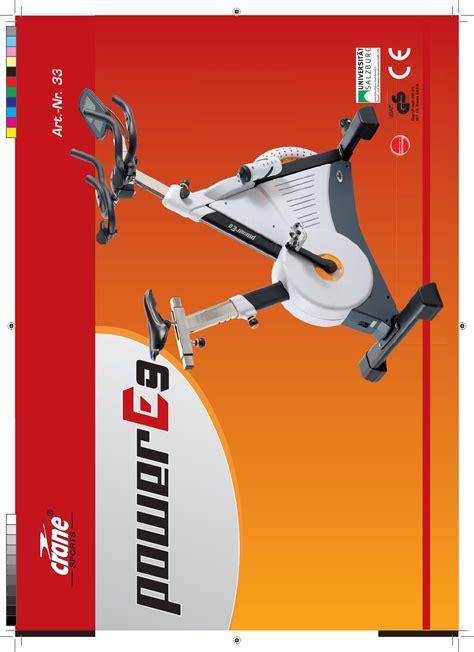 handleiding crane sports power e9 speedbike ergospeeder