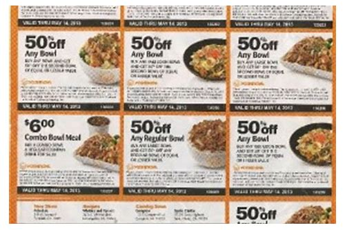yoshinoya coupons 2018 november