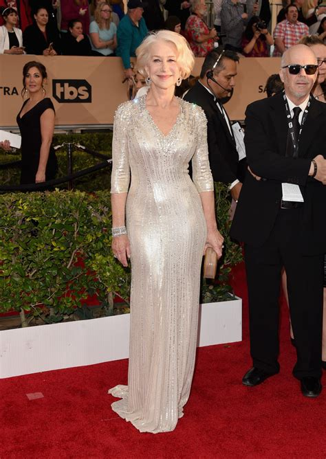 Helen Mirren Has At Sag Awards by Helen Mirren Who Took Our Breath Away At The 2016