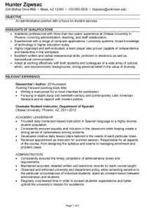 Exle Of A Combination Resume by Combination Resume Sle College Administration Student Services